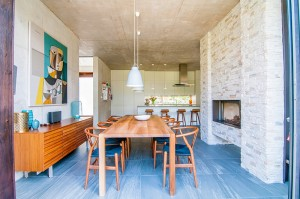 dining area with modern finishes