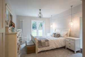 New England styled bedroom in a house on the wirral