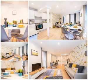 House Interior images in grey and yellow