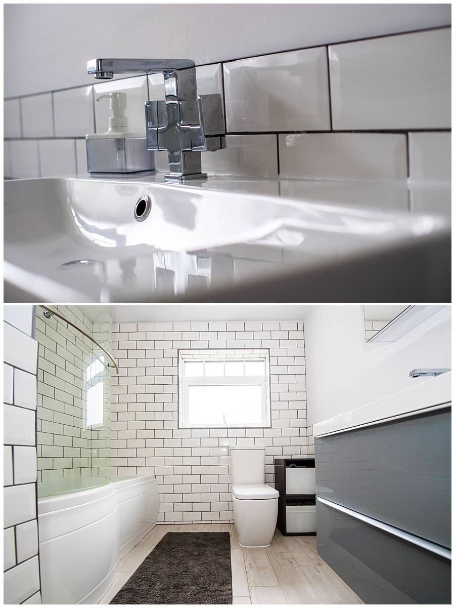close up of sink and bathroom